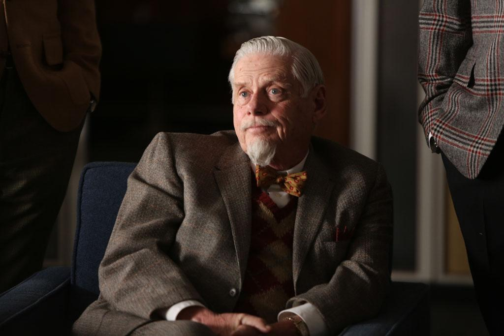 "Bertram Cooper (Robert Morse) in the ""Mad Men"" Season 6 finale, ""In Care Of."""