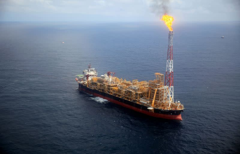 FILE PHOTO: Kaombo Norte floating oil platform is seen from a helicopter off the coast of Angola