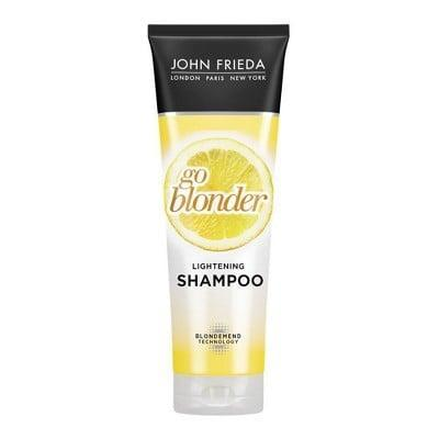 <p>Blonds know better than anyone that maintaining their color is a tough job, but the <span>John Frieda Sheer Blonde Go Blonder Lightening Shampoo</span> ($10) makes it less of a hassle with its supreme color protection that keeps brassy tones far away from your dye job.</p>