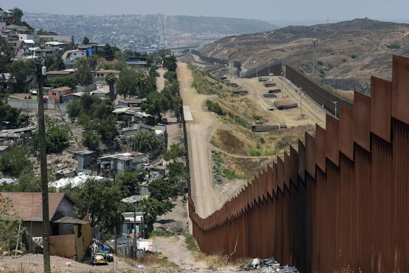 View of the Mexico-US wall on June 18, 2019, in Tijuana, Baja California, Mexico. (Photo by Agustin PAULLIER / AFP) (Photo credit should read AGUSTIN PAULLIER/AFP/Getty Images)