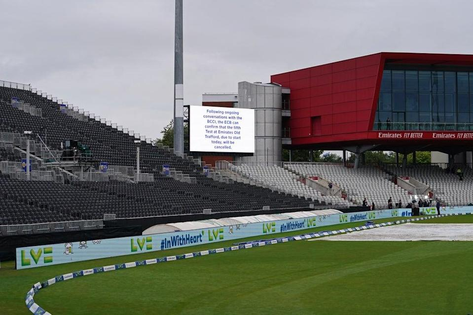 The fifth Test between England and India was cancelled on the first morning (Martin Rickett/PA) (PA Wire)