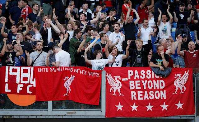 Soccer Football - Champions League Semi Final Second Leg - AS Roma v Liverpool - Stadio Olimpico, Rome, Italy - May 2, 2018 Liverpool fans inside the stadium before the match Action Images via Reuters/John Sibley