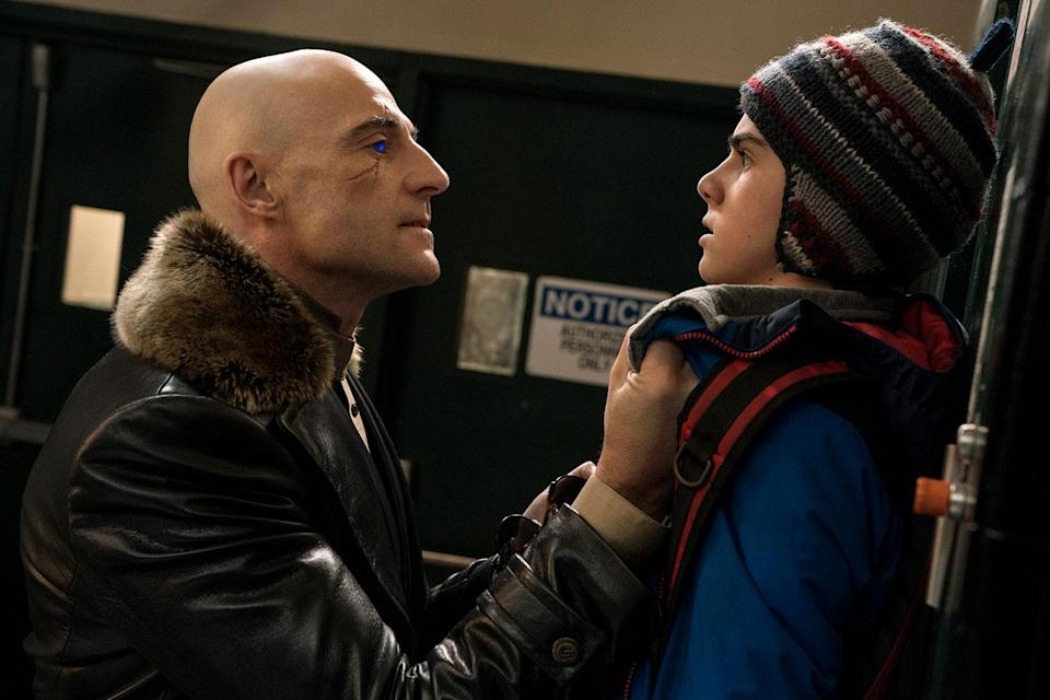 """(L-R) MARK STRONG as Dr. Thaddeus Sivana and JACK DYLAN GRAZER as Freddy Freeman in New Line Cinema's action adventure """"SHAZAM!,"""" a Warner Bros. Pictures release. (© 2019 WARNER BROS. ENTERTAINMENT INC.)"""
