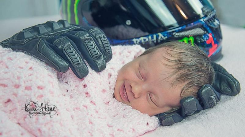 Heartbreaking Story Behind Motorcycle-Themed Baby Photo