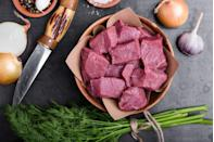 <p>Making stew? You might feel tempted to purchase a tray of cut-up stew meat. Don't. These have been marked up since they were cut up for you already.</p><p>Instead, just buy a chunk of meat and cut it yourself. Or, better yet, trick the system by bringing that chunk of meat to the store butcher and asking them to cut it for free. </p>
