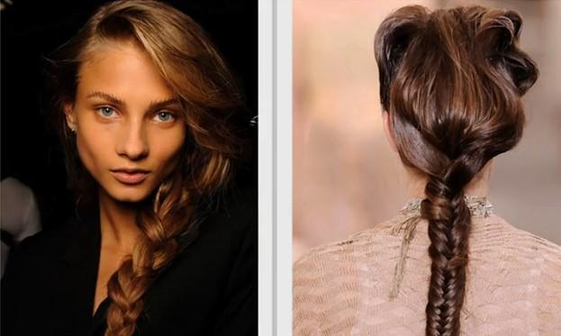 Different ways to style wet hair