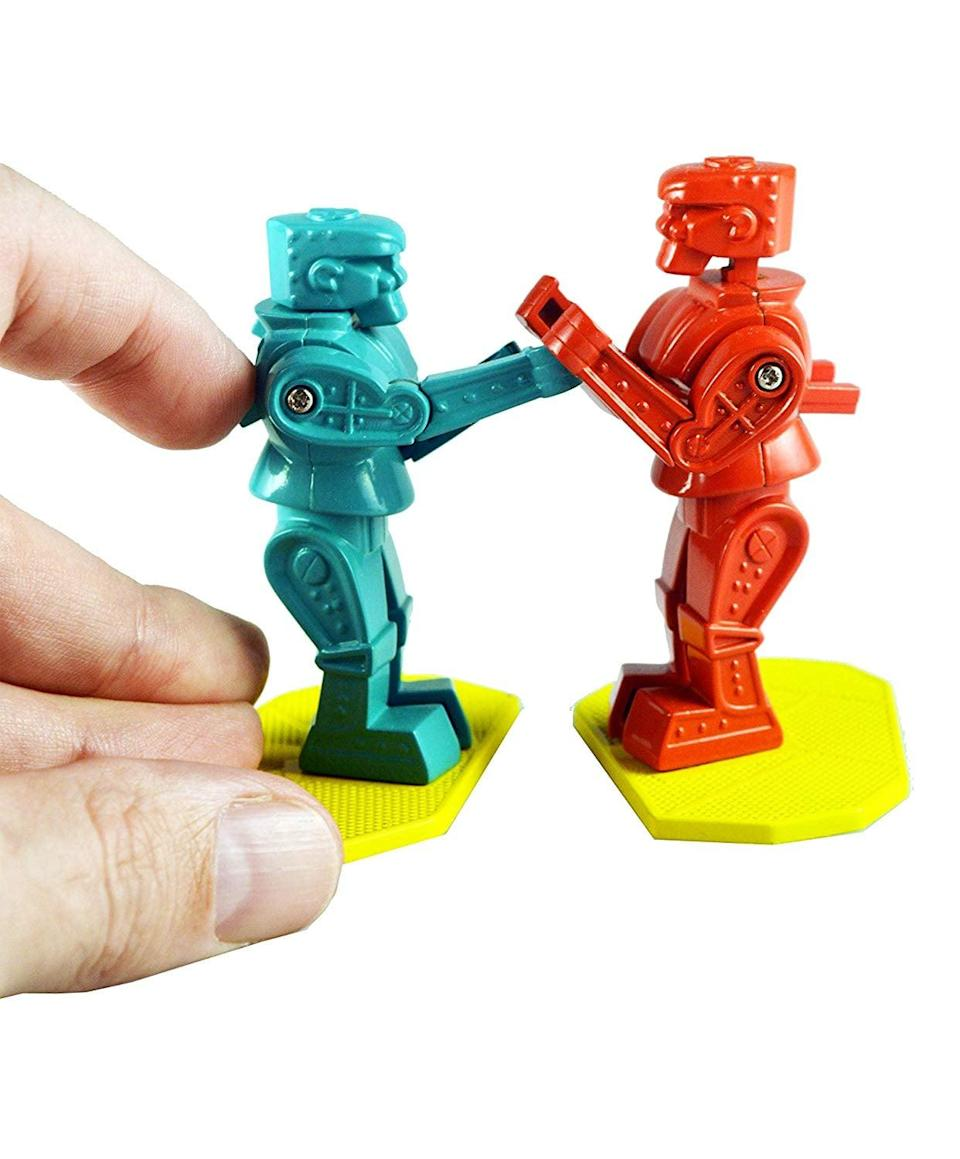 <p>Remember playing this game as kids? Now there's the <span>World's Smallest Rock 'Em Sock 'Em Robots</span> ($11), perfect for a stocking stuffer! </p>