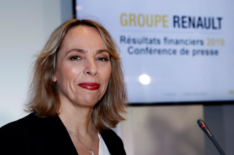 French carmaker Renault's 2019 annual results presentation in Boulogne-Billancourt