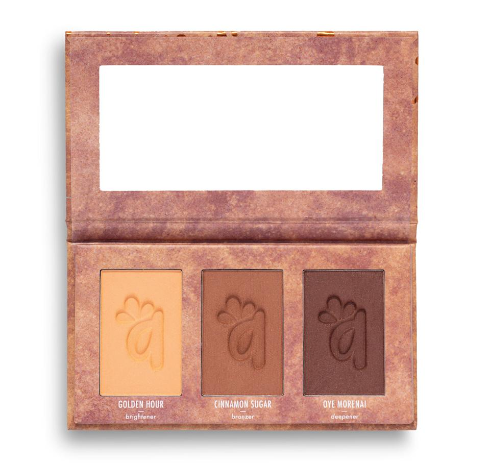 """<h3>Alamar Cosmetics</h3><br>Cuban-born makeup artist Gabriela Trujillo wants her followers to remember that """"there are beauty and inspiration in your very own roots."""" And Trujillo's roots are front and center in the tropical influence (vibrant colors, palm leaves...) and Spanish product names. She even named her company, Alamar, after the Cuban neighborhood where she grew up. Whether nude lip liners or face palettes, the brand offers a variety of products that promise to work for every skin tone.<br><br><strong>Alamar Cosmetics</strong> DesNUDEas Lip Gloss - Dulce, $, available at <a href=""""https://go.skimresources.com/?id=30283X879131&url=https%3A%2F%2Falamarcosmetics.com%2Fcollections%2Fdesnudeas-collection%2Fproducts%2Fdesnudeas-lip-gloss-dulce"""" rel=""""nofollow noopener"""" target=""""_blank"""" data-ylk=""""slk:Alamar Cosmetics"""" class=""""link rapid-noclick-resp"""">Alamar Cosmetics</a>"""