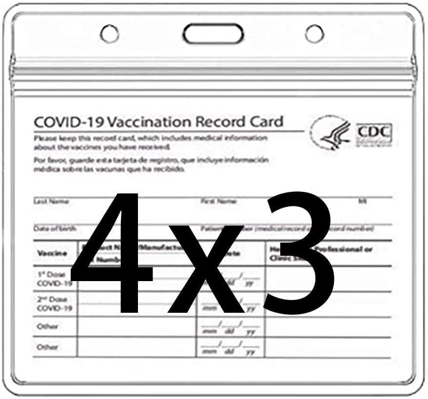 <p>Protect your vaccination cards with these <span>CDC Vaccination Card Protector 4 X 3 Inches </span> ($8 for 3). It's waterproof and resealable.</p>
