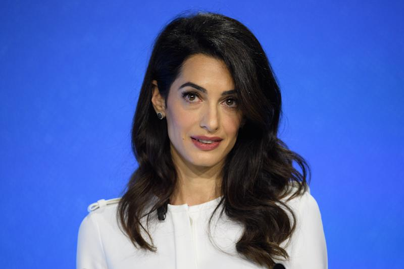 LONDON, ENGLAND - JULY 11: Barrister and UK Foreign Office Special Envoy on Media Freedom Amal Clooney speaks to delegates during day two of the Global Conference on Press Freedom on July 11, 2019 in London, England. The conference sees speakers from around the world sharing their experiences and thoughts on protecting the rights of members of the media around the world. (Photo by Leon Neal/Getty Images)