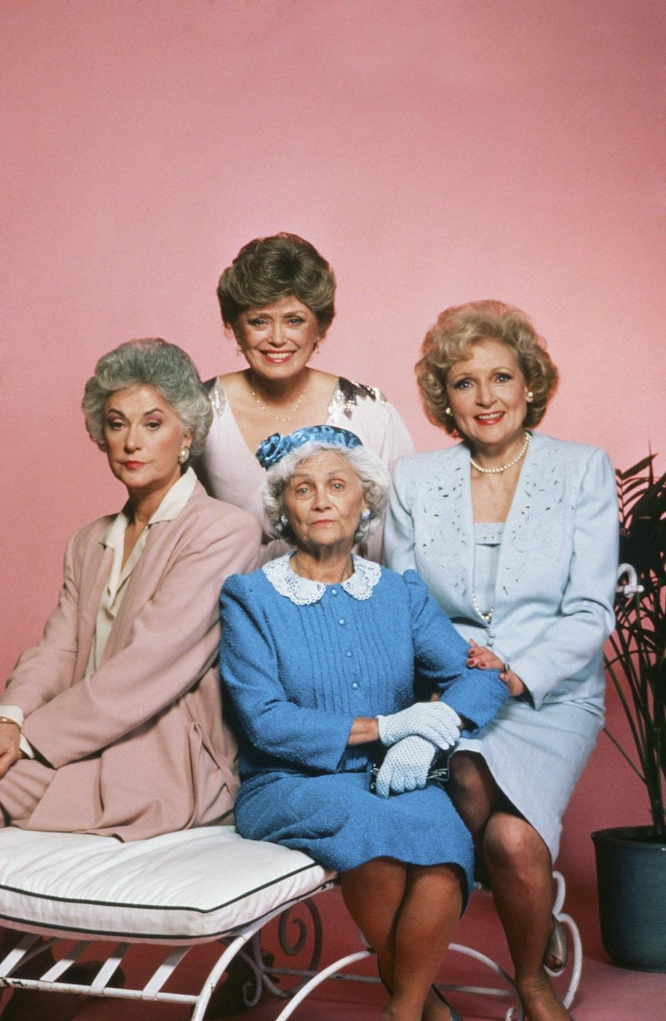 <p>When you think of <em>The Golden Girls</em>, the iconic images of Beatrice (aka Bea) Arthur, Betty White, Rue McClanahan and Estelle Getty in their Miami pad likely pop into your brain. These actresses are still perhaps most well-known for the iconic roles that they played from 1985–1992 on the beloved sitcom, and it's hard to imagine them as anyone other than Rose Nylund, Blanche Devereaux, Sophia Petrillo and Dorothy Zbornak living that glamorous BFF life. But, these actresses did have lives and careers before they took that first bite of cheesecake, and some of them even crossed paths before they traveled down the road and back again. So picture it, the 1950s, '60s and '70s — these women are making their way through Hollywood.</p>