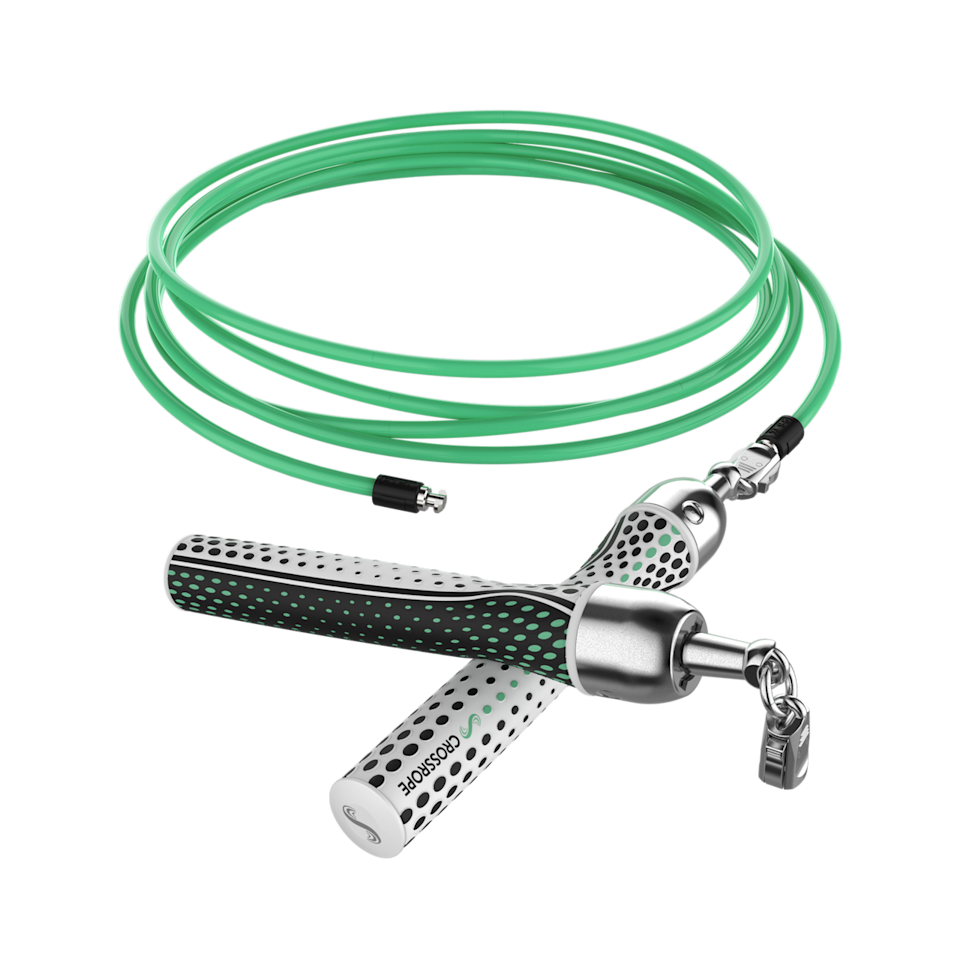 """<h2>Crossrope Weighted Jump Rope</h2> <br>The jump rope is the unsung hero of the cardio world. This one is weighted, and a great addition to any <a href=""""https://www.refinery29.com/en-gb/home-gym-equipment-small-spaces"""" rel=""""nofollow noopener"""" target=""""_blank"""" data-ylk=""""slk:home gym"""" class=""""link rapid-noclick-resp"""">home gym</a>.<br><br><strong>Crossrope</strong> Crossrope Jump Rope, $, available at <a href=""""https://go.skimresources.com/?id=30283X879131&url=https%3A%2F%2Fwww.crossrope.com%2Fshop%2Fstarter-jump-rope-set"""" rel=""""nofollow noopener"""" target=""""_blank"""" data-ylk=""""slk:Crossrope"""" class=""""link rapid-noclick-resp"""">Crossrope</a><br>"""