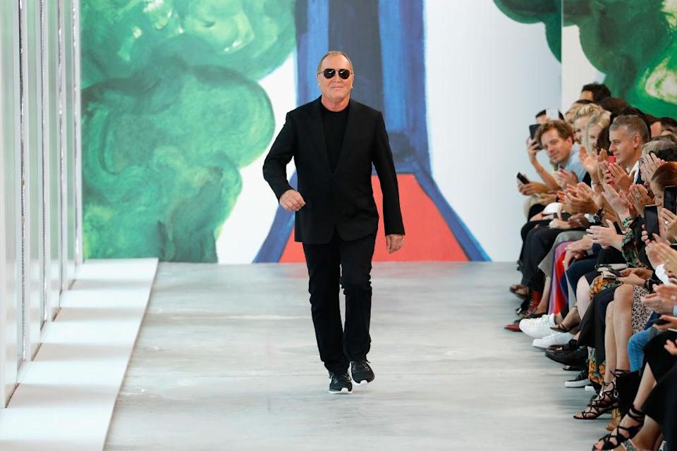 Fashion designer Michael Kors at the end of his Spring 2019 Runway Show during NYFW on Sept. 12. (Photo: Getty Images)