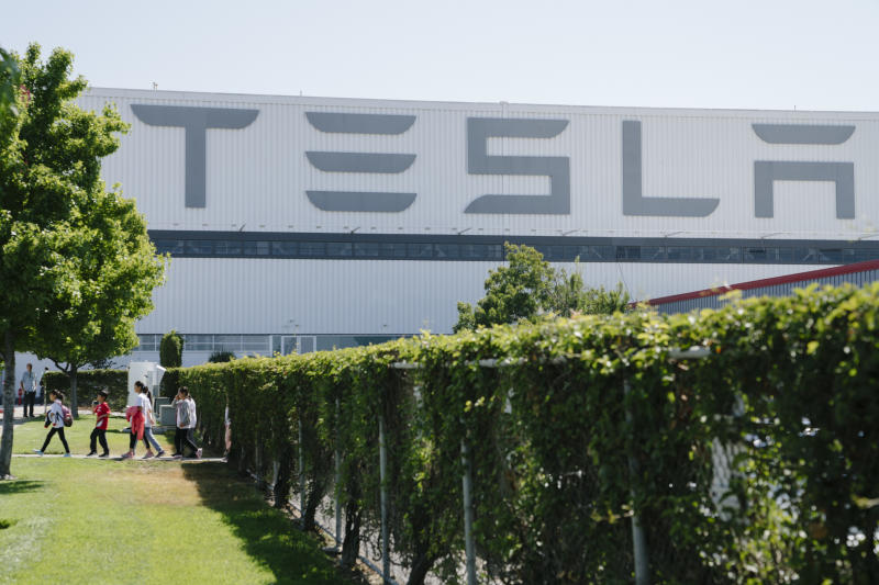 Tour of Tesla Factor in Fremont, California