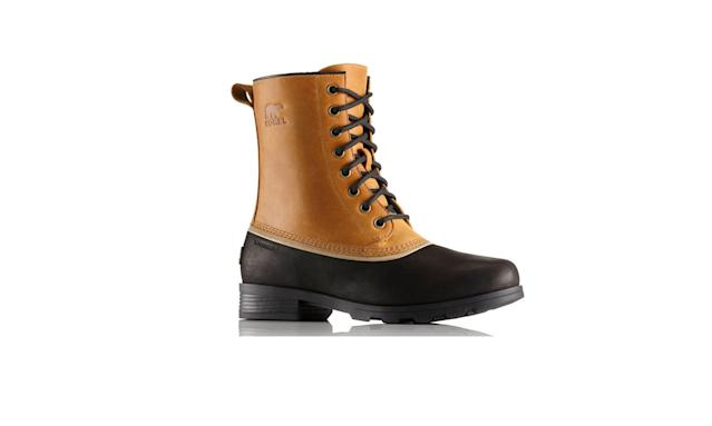 "<p>Women's Emelie 1964 boot, $160, <a href=""https://www.sorel.com/womens-emelie-1964-boot-1749791.html?dwvar_1749791_variationColor=286#q=emelie&start=2"" rel=""nofollow noopener"" target=""_blank"" data-ylk=""slk:sorel.com"" class=""link rapid-noclick-resp"">sorel.com</a> </p>"