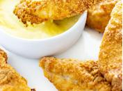 """<h2>20. Keto Chicken Tenders</h2> <p>Here's your reminder that chicken tenders are completely acceptable for adults.</p> <p><a class=""""link rapid-noclick-resp"""" href=""""https://www.wholesomeyum.com/keto-chicken-tenders-recipe/"""" rel=""""nofollow noopener"""" target=""""_blank"""" data-ylk=""""slk:Get the recipe"""">Get the recipe</a></p>"""