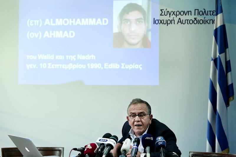 Greek interior ministry official Yiannis Mouzalas, pictured November 15, 2015 in Athens, said a passport found at the scene of attacks in Paris was issued to mad alMohammad, an asylum seeker who had taken the migrants' route through the Balkans (AFP Photo/Angelos Tzortzinis)
