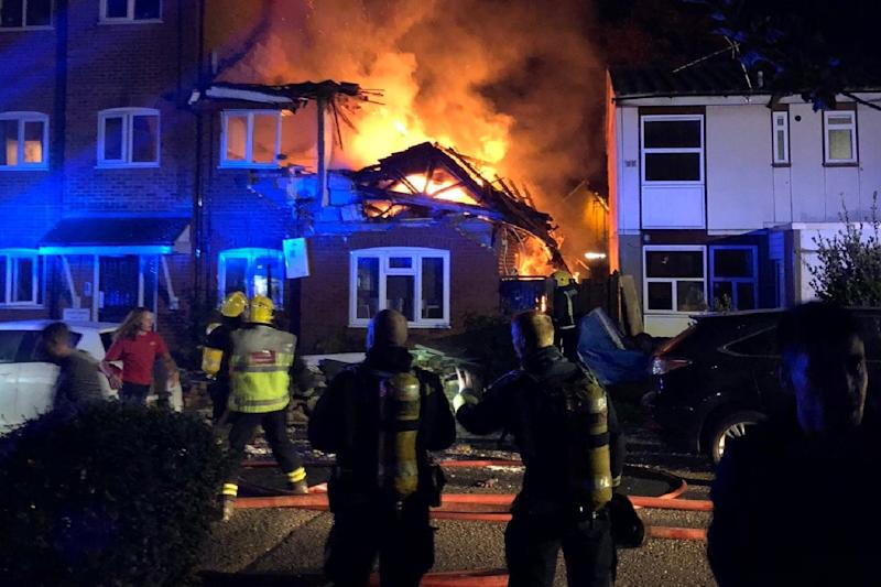 Devastated: the fire at the block of flats followed a suspected gas explosion: Rahman Alanezi