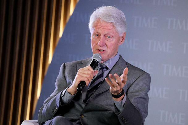 PHOTO: Former U.S. President Bill Clinton speaks onstage during the TIME 100 Health Summit at Pier 17 on October 17, 2019 in New York City. (Brian Ach/Getty Images)