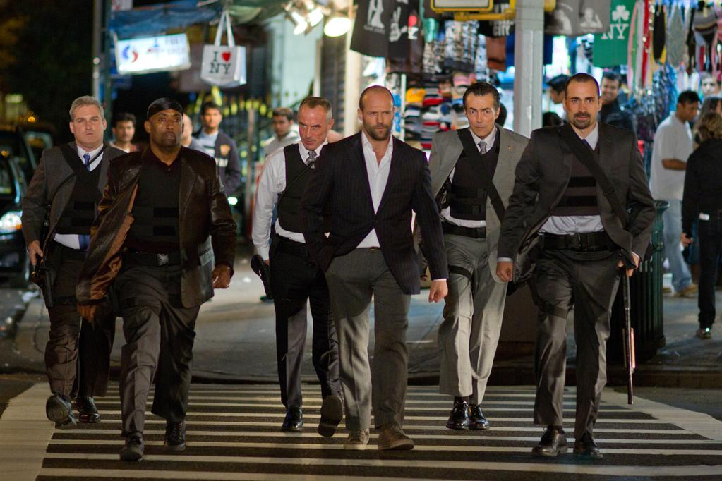 "James Colby, Barry Bradford, Robert John Burke, Jason Statham and Matt O'Toole in Lionsgate Picture's ""Safe"" - 2012"