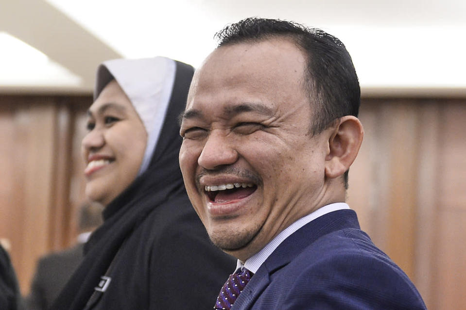 Education Minister Maszlee Malik attends Parliament October 9, 2019. — Picture by Miera Zulyana