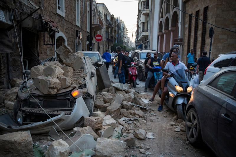 Pictures showed the extent of the damage (Getty Images)