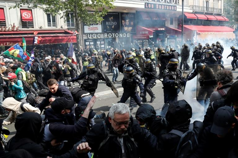 Violence flared during the May 1 yellow vest demonstrations