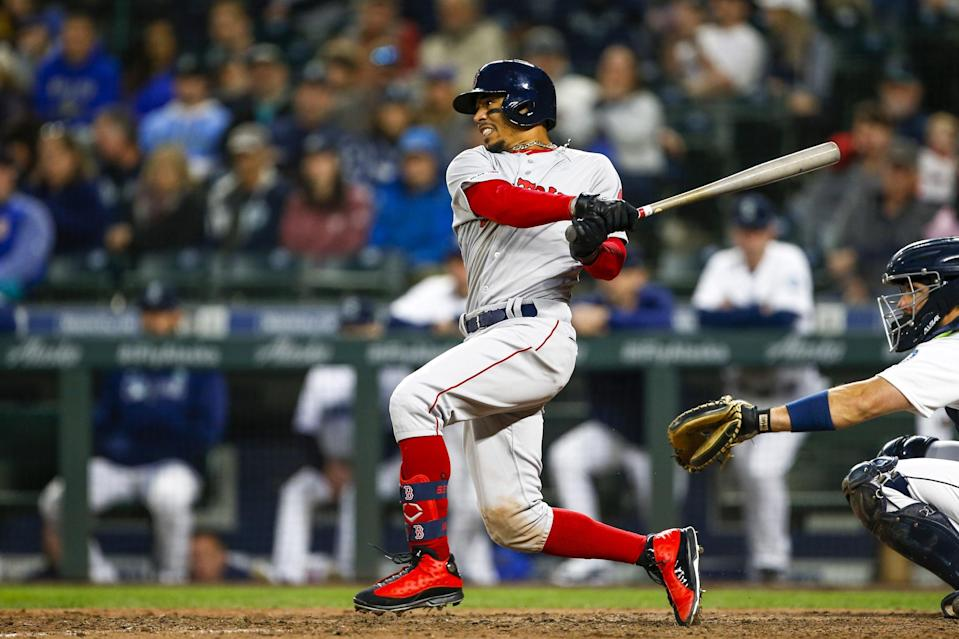 Boston Red Sox star Mookie Betts wasn't going to be kept inside the ballpark for long.