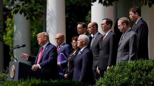 PHOTO: President Donald Trump speaks during a news conference in the Rose Garden of the White House, June 5, 2020, in Washington. (Evan Vucci/AP)