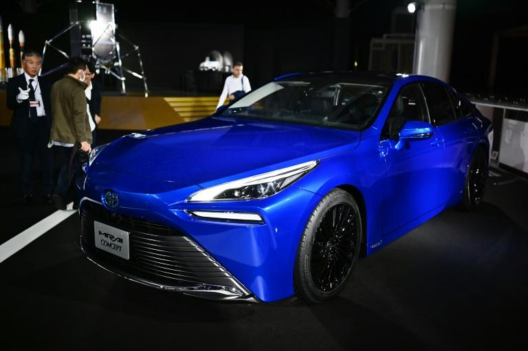 Toyota will include 500 of its new hydrogen-powered Mirai cars in a fleet of vehicles to be used at next year's Tokyo Olympics (AFP Photo/CHARLY TRIBALLEAU)