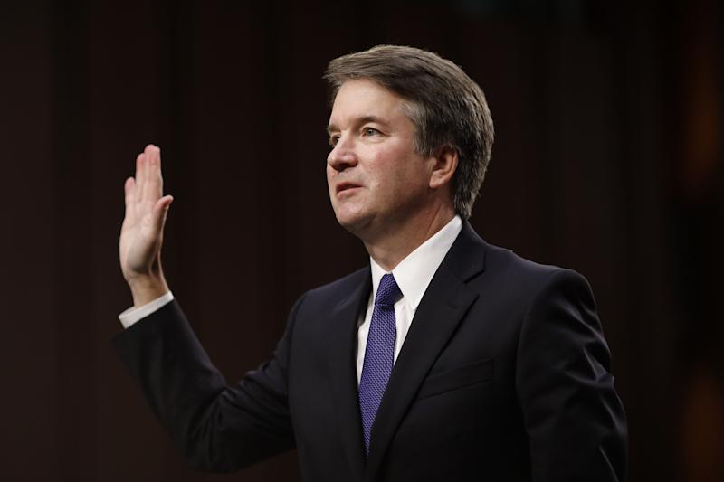 Brett Kavanaugh is sworn in to United States supreme court