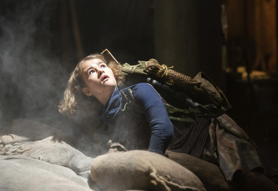 """This image released by Paramount Pictures shows Millicent Simmonds in a scene from """"A Quiet Place Part II."""" (Jonny Cournoyer/Paramount Pictures via AP)"""