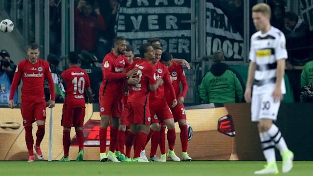 Eintracht Frankfurt edged past Borussia Monchengladbach on penalties on Tuesday to book a place in the DFB-Pokal final.