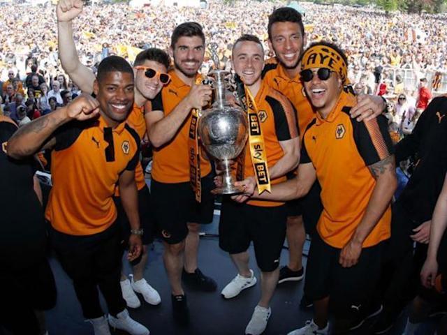 Wolves bask in promotion glory as Ruben Neves vows to stay on for Premier League journey