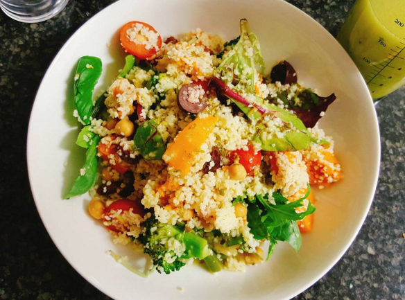 <p>You can just about get your couscous done in a few minutes. And then it's just a case of adding some colourful additions to your warm salad, whether it's pre-soaked chickpeas, tomato, green leaves, beetroot, or much more. Serve it quickly and you'll have it nice and warm. <i>[Picture: Instagram/Helen Lee AKA sydneymum_helen]</i></p>