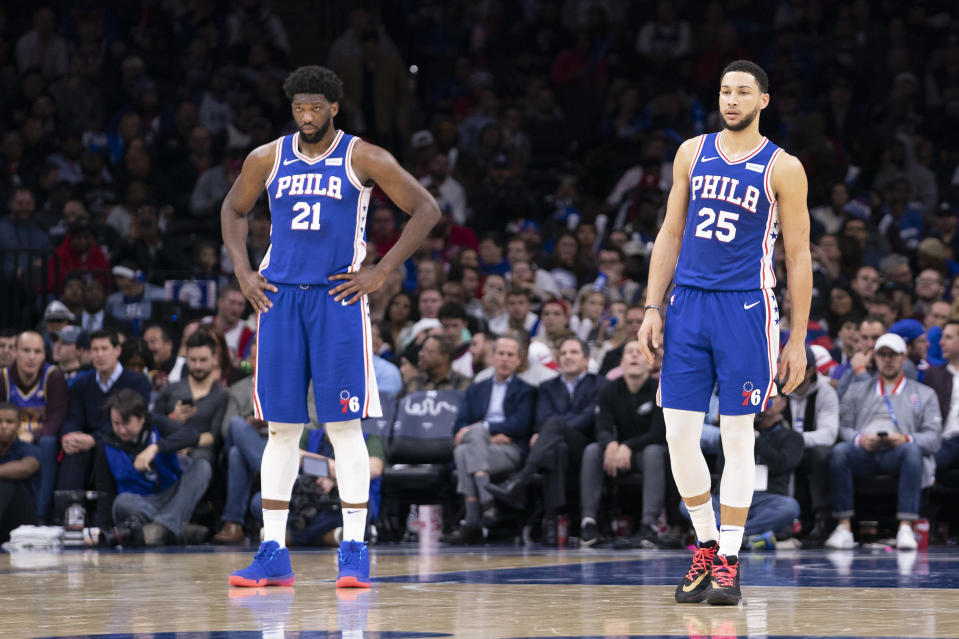 Can Joel Embiid and Ben Simmons both be at their best together? (Mitchell Leff/Getty Images)