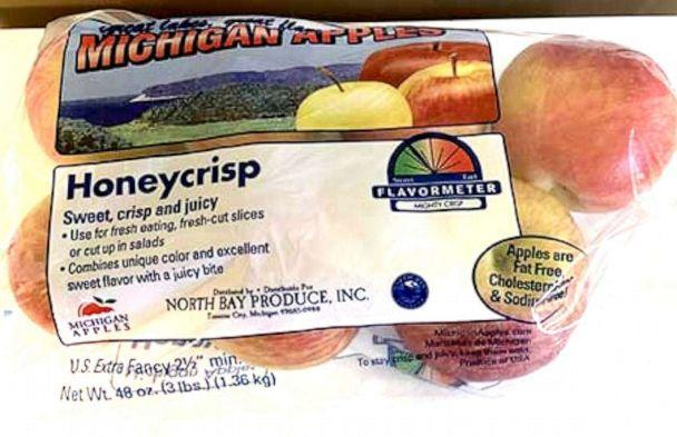 PHOTO: North Bay Produce voluntarily recalled over 2,000 cases and 2 bulk bins of fresh apples. (FDA)