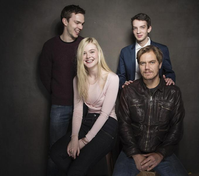 From left, Nicholas Hoult, Elle Fanning, Kodi Smit-McPhee, and Michael Shannon pose for a portrait at The Collective and Gibson Lounge Powered by CEG, during the Sundance Film Festival, on Saturday, Jan. 18, 2014 in Park City, Utah. (Photo by Victoria Will/Invision/AP)