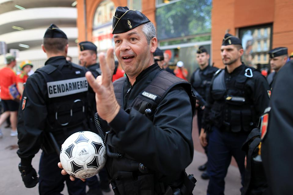 Des gendarmes à Toulouse, lors de l'Euro 2016 (illustration -  Photo: Simon Stacpoole / Offside)