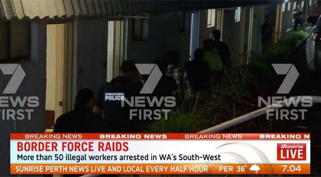 Early Morning Wa Raids Find 50 Illegal Foreign Workers Crammed Into Dorm Style Rooms