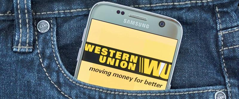 MONTREAL, CANADA - SEPTEMBER 8, 2018: Western Union mobile app.