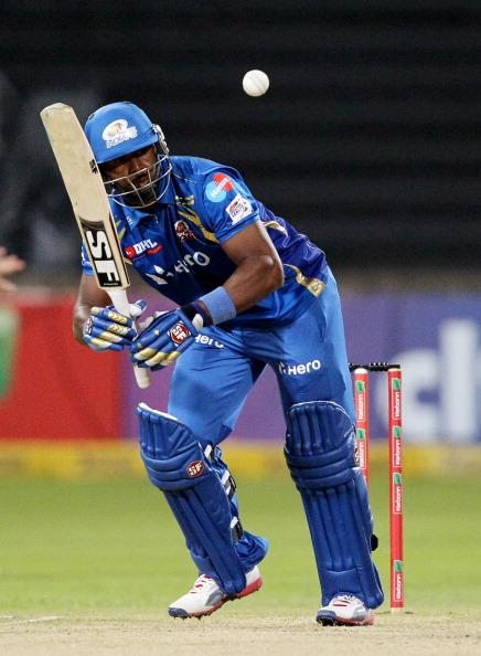 DURBAN, SOUTH AFRICA - OCTOBER 22:  Dwayne Smith of Mumbai in action during the Champions League twenty20 match between Sydney Sixers and Mumbai Indians at Sahara Stadium Kingsmead on October 22, 2012 in Durban, South Africa. (Photo by Anesh Debiky / Gallo Images/Getty Images)