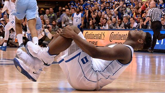 Zion Williamson's knee injury only strengthened his case for National Player of the Year. (Getty)