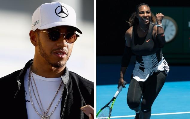 Lewis Hamilton has hailed Serena Williams' courage - rex/getty images