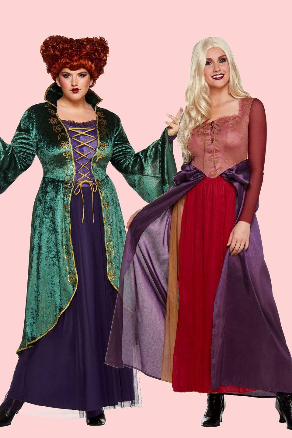 """<p><em>Hocus Pocus</em> is one of our very <a href=""""https://www.goodhousekeeping.com/holidays/halloween-ideas/g2661/halloween-movies/"""" rel=""""nofollow noopener"""" target=""""_blank"""" data-ylk=""""slk:favorite Halloween movies"""" class=""""link rapid-noclick-resp"""">favorite Halloween movies</a>, obviously. So what better badass Halloween costumes exist besides Winifred and Sarah?</p><p><a class=""""link rapid-noclick-resp"""" href=""""https://go.redirectingat.com?id=74968X1596630&url=https%3A%2F%2Fwww.spirithalloween.com%2Fproduct%2Fwinifred-sanderson-dress-hocus-pocus%2F165182.uts&sref=https%3A%2F%2Fwww.goodhousekeeping.com%2Fholidays%2Fhalloween-ideas%2Fg28102891%2Fbadass-halloween-costumes-women%2F"""" rel=""""nofollow noopener"""" target=""""_blank"""" data-ylk=""""slk:SHOP WINIFRED COSTUME"""">SHOP WINIFRED COSTUME</a></p><p><a class=""""link rapid-noclick-resp"""" href=""""https://go.redirectingat.com?id=74968X1596630&url=https%3A%2F%2Fwww.spirithalloween.com%2Fproduct%2Fadult-sarah-sanderson-costume-hocus-pocus%2F149014.uts&sref=https%3A%2F%2Fwww.goodhousekeeping.com%2Fholidays%2Fhalloween-ideas%2Fg28102891%2Fbadass-halloween-costumes-women%2F"""" rel=""""nofollow noopener"""" target=""""_blank"""" data-ylk=""""slk:SHOP SARAH COSTUME"""">SHOP SARAH COSTUME </a> </p>"""