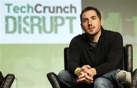 Google Venture's Kevin Rose speaks during a question and answer session at the Tech Crunch Disrupt conference in San Francisco in this file photo