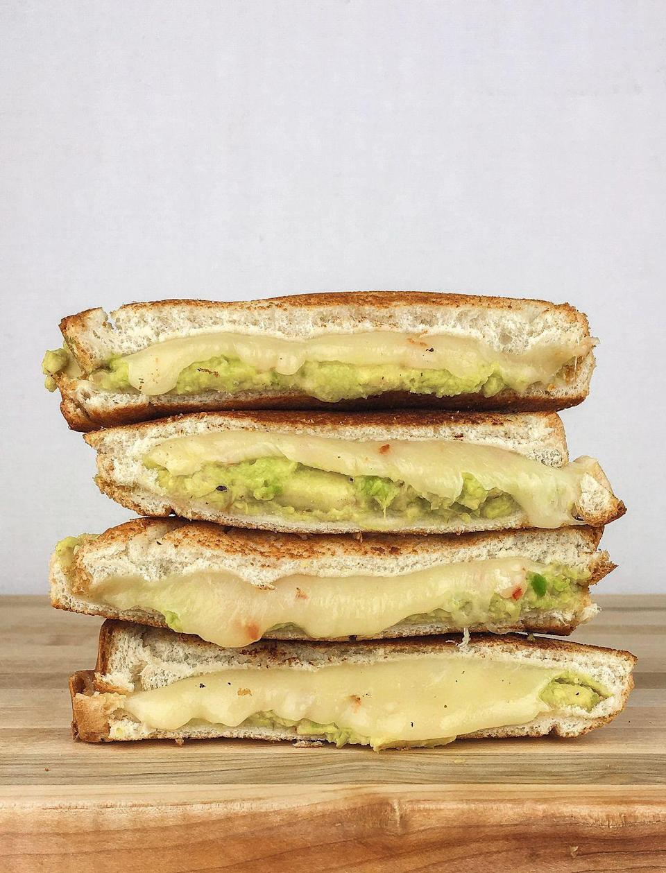 """<p>SO creamy and cheesy!</p><p>Get the recipe from <a href=""""https://www.delish.com/cooking/recipe-ideas/recipes/a46496/avocado-grilled-cheese-recipe/"""" rel=""""nofollow noopener"""" target=""""_blank"""" data-ylk=""""slk:Delish"""" class=""""link rapid-noclick-resp"""">Delish</a>.</p>"""