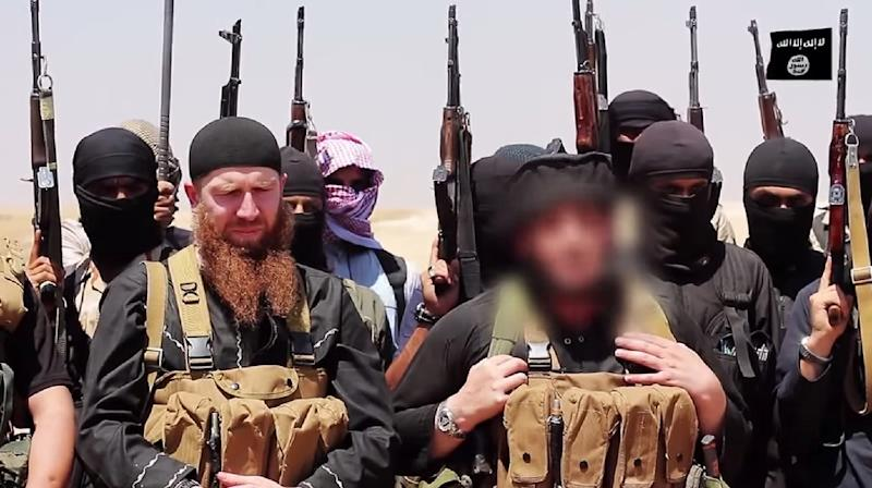 Omar al-Shishani (real name Tarkhan Batirashvili) pictured at an unknown location between Iraq's Nineveh province and the Syrian town of Al-Hasakah in an image made available by Jihadist media outlet al-Itisam Media on June 29, 2014