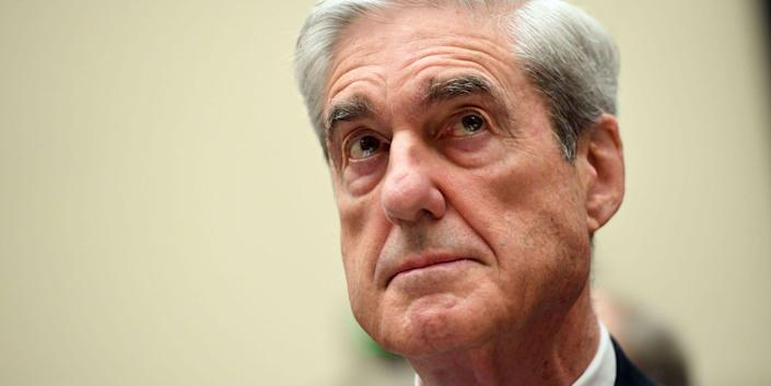 Robert Mueller waits to testify before Congress on July 24, 2019.